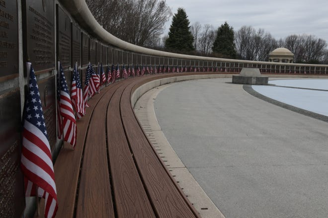 The names of the 4,415 Allied service members who died on June 6, 1944, during the invasion of Normandy are etched on the National D-Day Memorial in Bedford, Va.