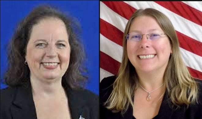 Supervisors of Elections Lisa Lewis of Volusia County, left, and Kaiti Lenhart, of Flagler County.