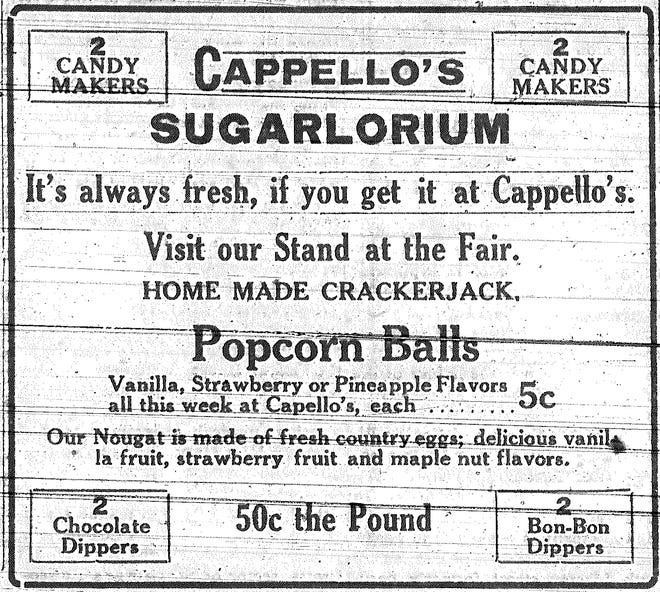 The annual Independence fair was a big event in the community, and local businesses did what they could to capitalize on that. This ad is from 100 years ago this week.