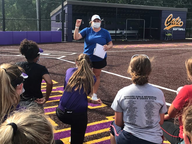 Anna Cole, a graduate of Blue Springs High School who was a part of the Wildcats' 2008 state championship team, is the first-year head coach for her former program. She had served as an assistant softball coach at Blue Springs since 2015 and was named the head coach in June.