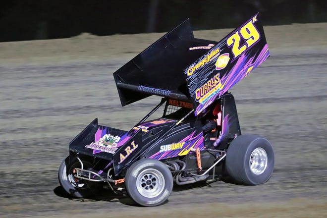 Dan Keltner of Wapello holds a one-point lead over Cody Wehrle in the 305 sprint car points chase heading into Saturday's Season Championship Night at 34 Raceway.