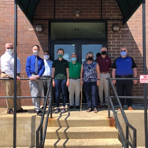 Representatives from 10 local credit unions jointly raised $8,100 for Philabundance to combat food insecurity in the region. Credit union representatives met with Scott Smith, director of business development at Philabundance, pictured far left, to present the funds, which will help feed 16,200 people.