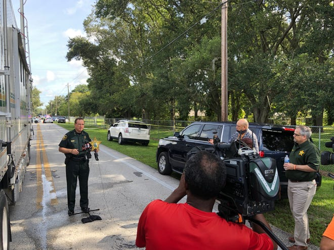 Polk Sheriff Grady Judd is briefing the media from north Lakeland in regards to a home intruder who was shot by a resident, according to authorities.