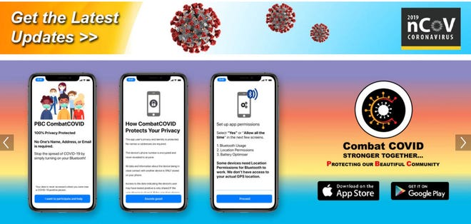 The CombatCOVID PBC app is now available for download from the App Store and Google Play. MEGHAN MCCARTHY/palmbeachdailynews.com