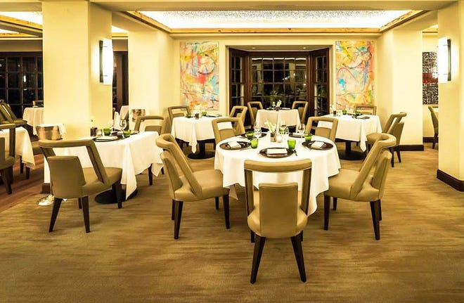 The dining room at Cafe Boulud, which also includes outdoor and terrace dining. [Photo courtesy Cafe Boulud]