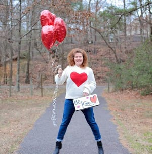 Crystal Phelps poses for a kindness-themed photo shoot in February of 2020 in Hopewell, Va.