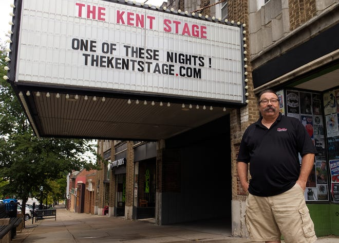 The Kent Stage Owner Tom Simpson said he would need to be able to fill at least 50% of the theater to make it financially worthwhile to open.