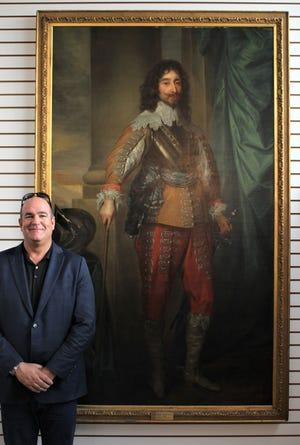 Andrew Ford, founder of Sarasota Estate Auction, will open this 17th-century painting attributed to Anthony van Dyck to bidding on Sept. 13.