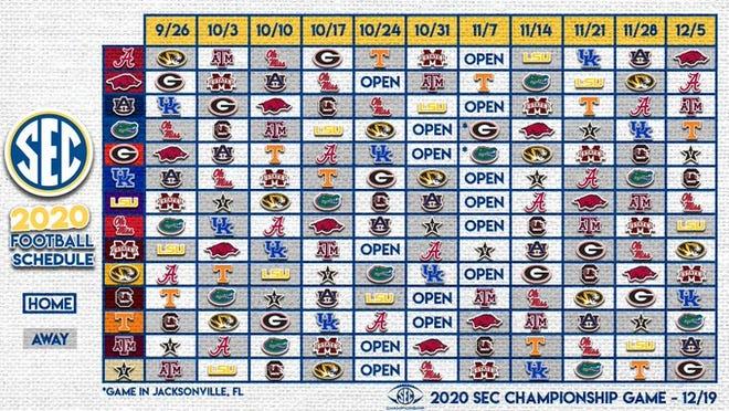 SEC schedule