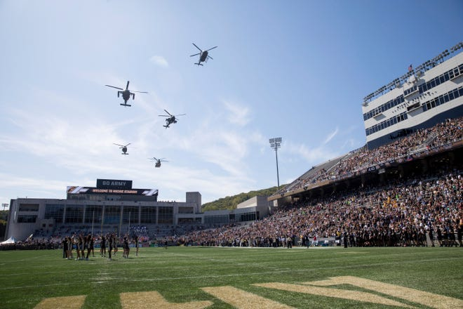 Michie Stadium is the home for Army football. JULIUS CONSTANTINE MOTAL/AP