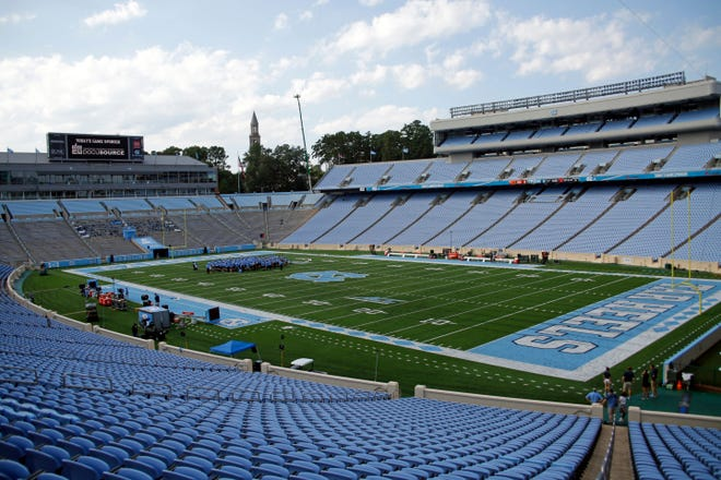 A look at Kenan Stadium in Chapel Hill prior to the start of the September football game last season between Miami and North Carolina.