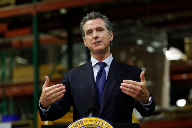 In this photo on June 26, 2020, California Gov. Gavin Newsom speaks at a news conference.