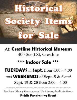 A few unneeded items from the Crestline Museum will be sold throughout September.