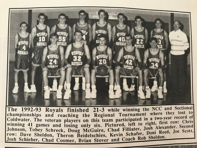 The '92-'93 Royals featured Rob coaching his son David for the first time at the varsity level.