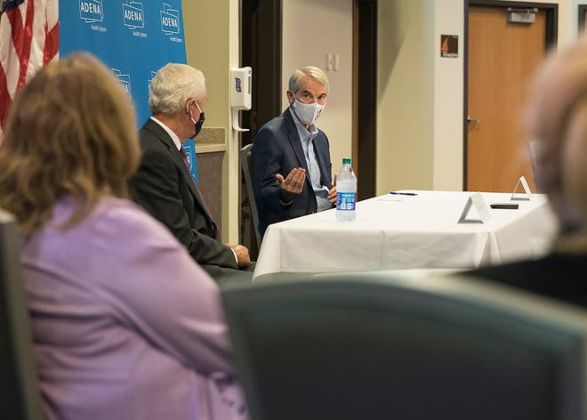 U.S. Senator Rob Portman (R-Ohio) met with Adena Health Systems CEO Jeff Graham and other hospital officials to talk about local needs regarding Cares Act funding and PPE difficulties.