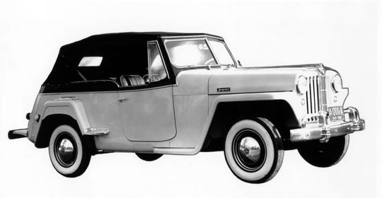 The rear-wheel drive Jeepster car was introduced to compete with small European convertibles.