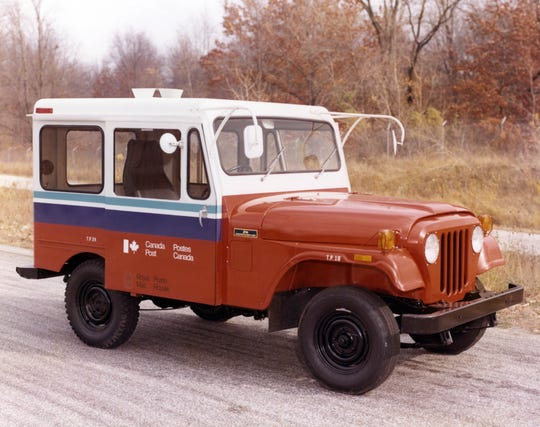 Jeep postal delivery vehicle