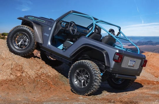 A 2018 Jeep 4-speed with a 850 pound weight reduction.