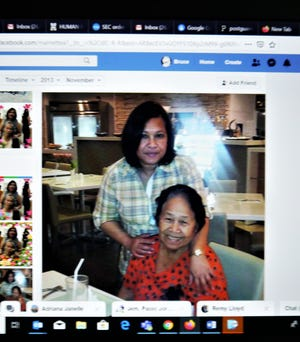 From the personal Facebook page of the late Marnette Penarubia Aggabao, pictured with one of her patients