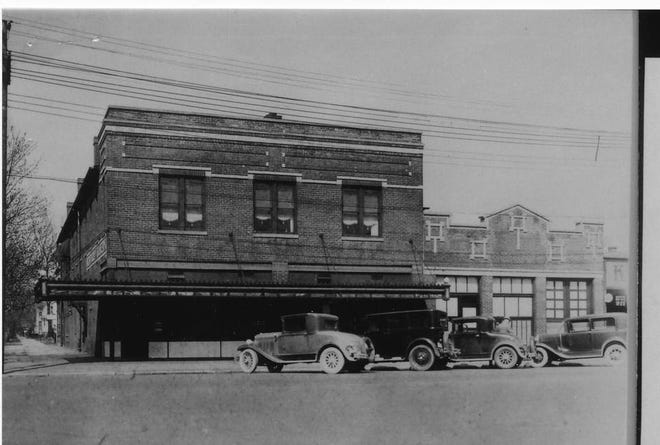 The Kentucky Bakery at the northeast corner of Second and Elm streets sometime in the 1920s.  Herman Boog originally set up a bakery shop on Main Street, but bought the building at Second and Elm on Nov. 16, 1919. He immediately expanded and bought about $20,000 of equipment -- all of which went up in smoke Sept. 2, 1920. Boog quickly rebuilt. The building stayed in his family until it was sold to Farmers Bank on April 26, 1962.