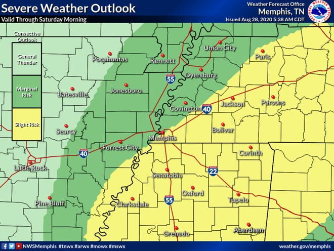Rain bands from Tropical Depression Laura bring risk of tornadoes, flooding to West Tennessee