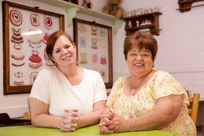 New Oliverio's Southland Restaurant owner Andrea Hale, left, sits with former owner Candy Oliverio inside the Old U.S. 231 restaurant, Friday, Aug. 28, 2020 in Lafayette.