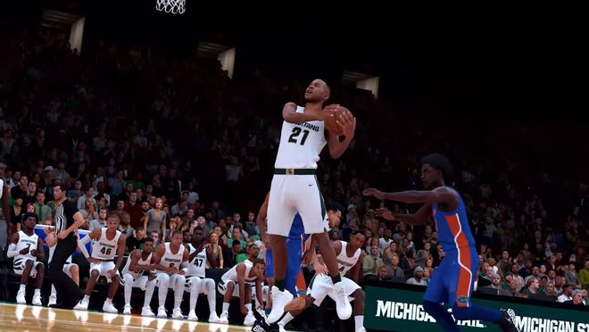 Michigan State is one of 10 schools to be featured in NBA2K21's MyCAREER mode, which comes out on Sept. 4.