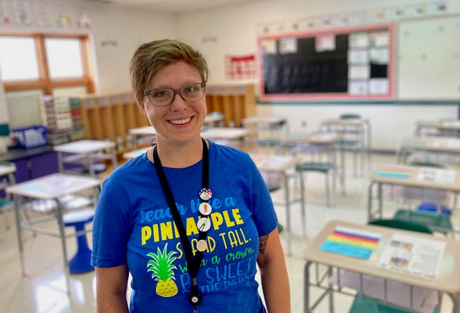 Leah Menzie is a fifth grade teacher at McKinley Elementary in Marion. She will have about 20 children in her classroom this year with the hybrid model.