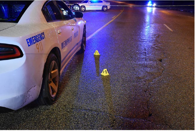 A photo from the Tennessee Bureau of Investigation shows the scene where Andre Horton was shot on Dec. 13, 2018.