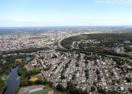 Aerial view of Bergen County taken October 10, 2019