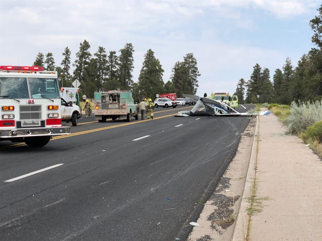 Asingle-engine Cessna Caravan made an emergency landing around 10:40 a.m. Friday, Aug. 28, 2020, on a road two miles north of Grand Canyon Airport, according to the FAA.