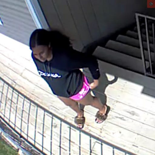 West Manchester Township Police are seeking to identify this woman regarding the theft of a package from the front porch of a house on Westgate Drive.