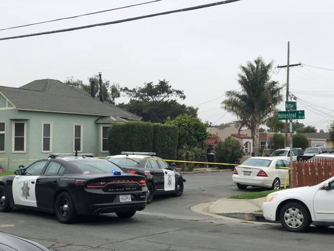Salinas police investigate a homicide in the 300 block of Archer Street on Aug. 28, 2020.