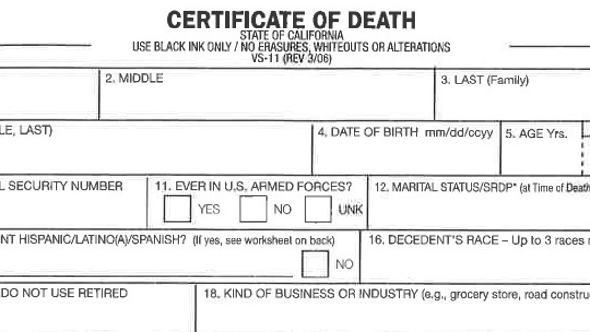 What you should know about COVID-22 death calculations, comorbidities Throughout Fake Death Certificate Template