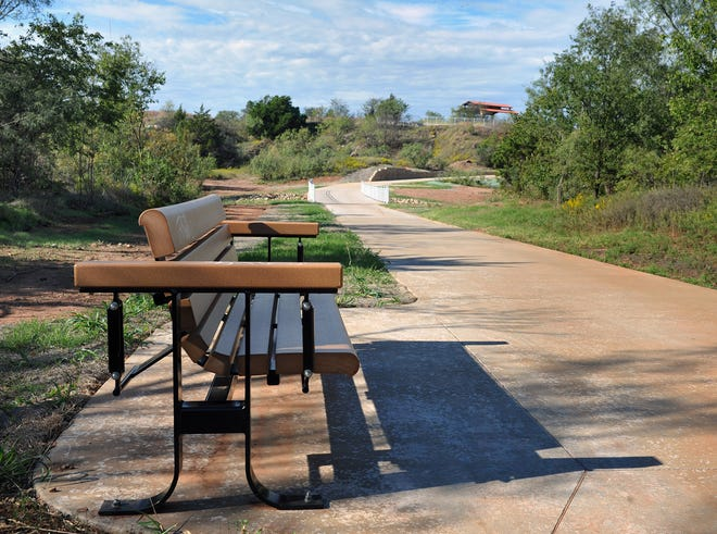 Benches, covered pavilions and an abundance of natural scenery can be found on the Wichita Bluff Nature Area section of the Wichita Falls Circle Trail.