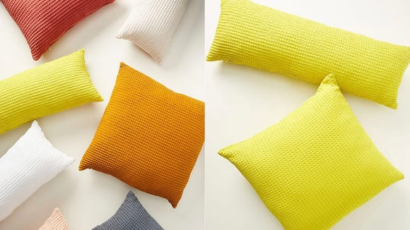 These throw pillows are a comfy addition to any sofa or bed.