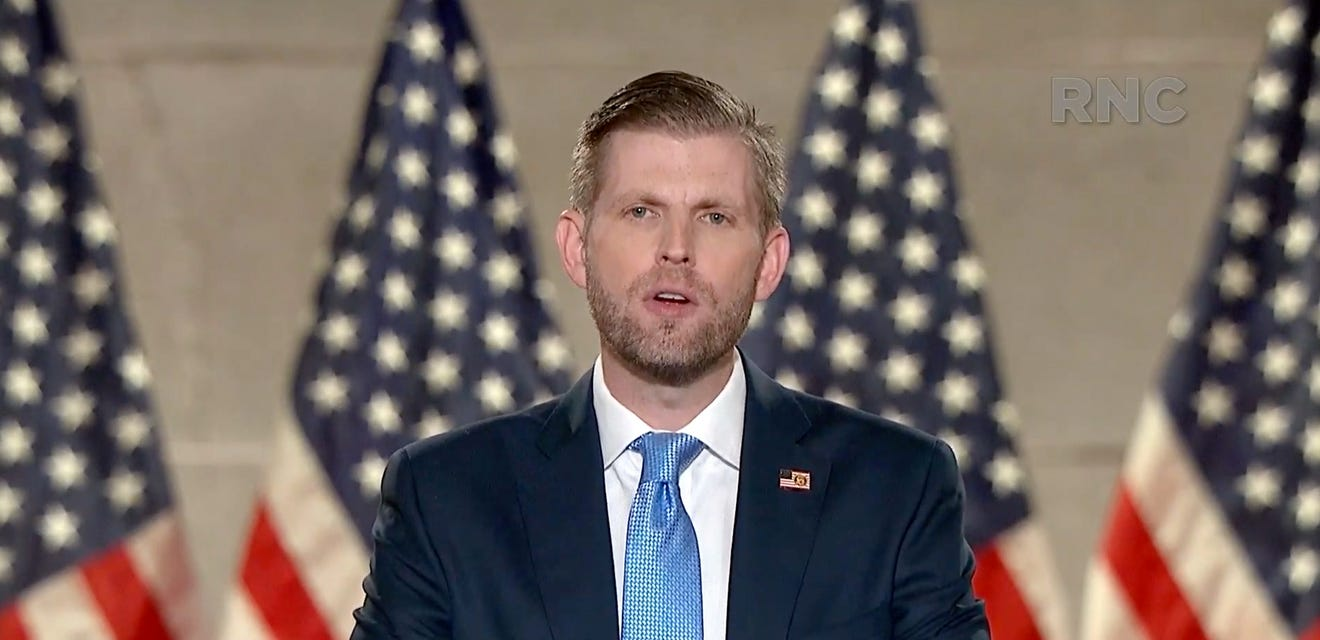 Twitter takes down Eric Trump post