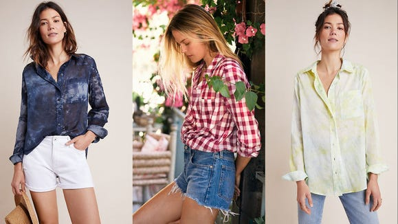 This lightweight shirt is so on-trend.