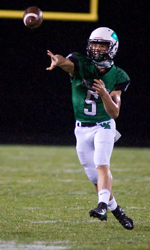 West Branch quarterback Brock Hillyer accounted for 382 total yards of offense against Minerva, scoring five touchdowns rushing and throwing for another score.