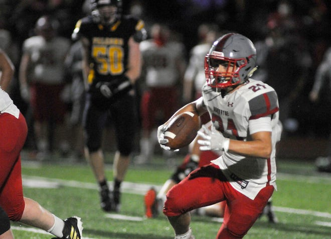 Jake Gill has been one of Norwayne's top new contributors this season, scoring three touchdowns and playing all over the field as a sophomore for the undefeated Bobcats.