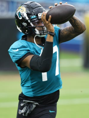 Jaguars receiver DJ Chark and the team are pushing to save the season after a 1-3 start. Bob Self/Florida Times-Union