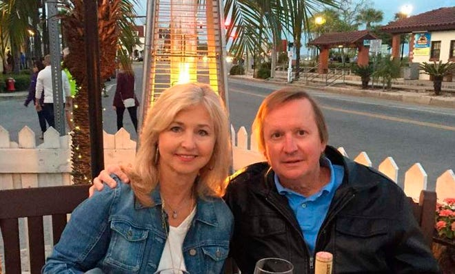 Michelle and Mark Ingram enjoy a meal at OC White's in downtown St. Augustine.