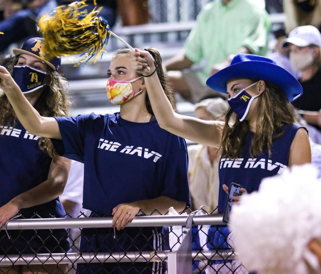 Tuscaloosa Academy fans wear face masks in the stands. Tuscaloosa Academy hosted Autauga Academy on Aug. 28 in its first game of the season. [Photo/Hannah Saad]