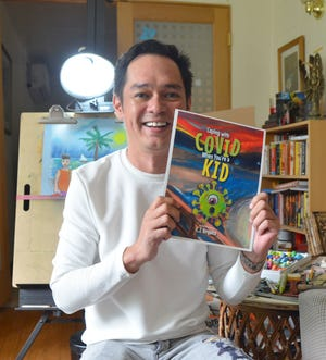 """Local artist C.J. Urquico's first book, """"Coping with COVID when you're a Kid"""" went live on Amazon on Aug. 28. Urquico, the authori and illustrator, went from drafts to done in 30 days for the 48-page book."""