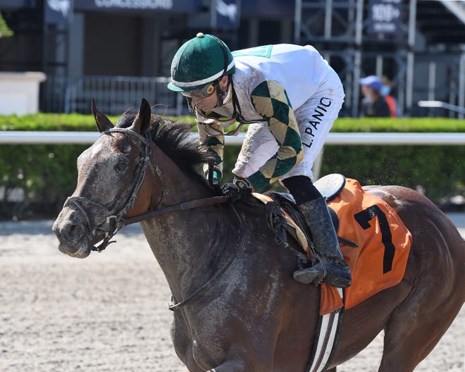 Sole Volante and jockey Luca Panici figure to be closing late in the Kentucky Derby on Sept. 5 at Churchill Downs.