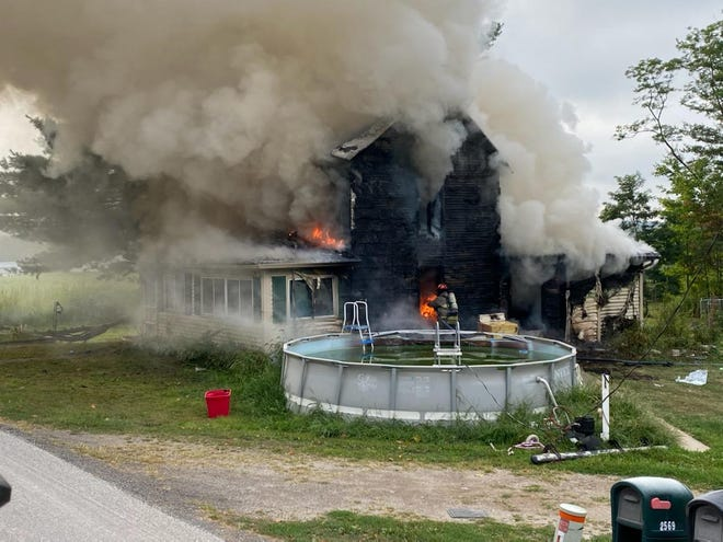 A Friday morning fire at 2569 Darlington Road East was a total loss.