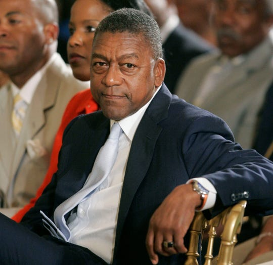 BET founder and NBA Charlotte Bobcats owner Robert Johnson listens during a celebration of Black Music Month during a ceremony in the East Room of the White House, Friday, June 22, 2007 in Washington. (AP Photo/Pablo Martinez Monsivais)