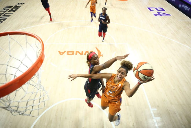Phoenix Mercury guard Bria Hartley will miss the remainder of the WNBA season due to a right knee injury suffered Friday.