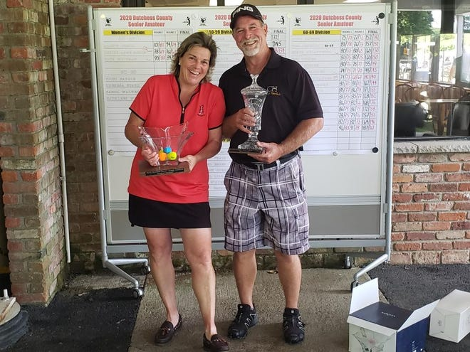Husband and wife duo Louise Morin and Todd Jackson respectively won the Dutchess County men's and women's Senior Amateur on Saturday.