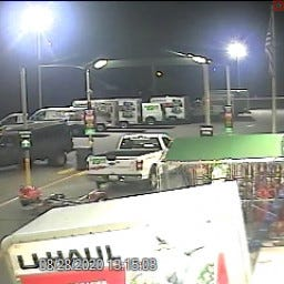 West Manchester Township Police are seeking to identify the dark-colored pickup truck in connection to the theft of a tow dolly at U-Haul.